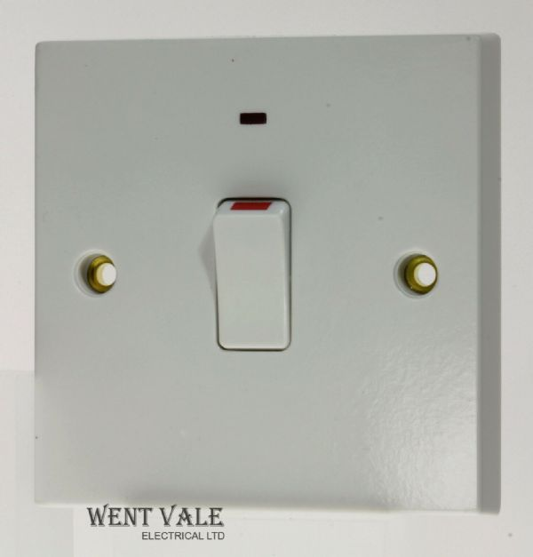 British General 900 Series - 931-01 - 20a Double Pole Moulded Switch with LED